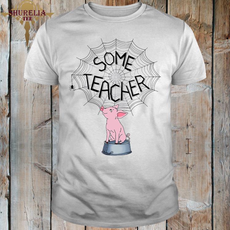 Pig Some Teacher Spider Web Shirt